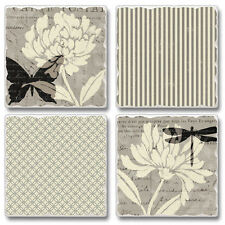 New listing Absorbent Stone Coasters-Set of 4-Natural Prints #1067