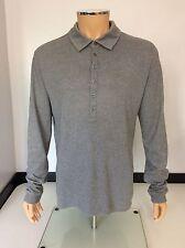 Hugo Boss Sessanio 01 Para Hombres Camiseta Manga Larga Polo, XL, gris, en muy buena condición