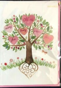 Beautiful Papyrus Mother's Day card - Watercolor Heart Tree - Warm, loving, fun