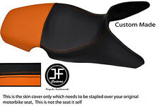 ORANGE & BLACK AUTOMOTIVE VINYL CUSTOM 01-07 FITS BMW F 650 GS DUAL SEAT COVER