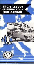 Facts About Shipping Your Car Abroad AAA 1952 1950s Vintage Booklet