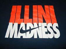 NIKE University of Illinois Fighting Illini Madness S/S Shirt, Sz. L ~ PRISTINE!