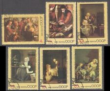 Foreign Paintings in Soviet Galleries 1974 USSR CTO set Mi 4301-6