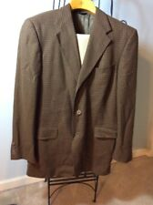 Vintage Tacky Suit Brown Plaid Sports Jacket 38R 34x28 Pants 70's Ugly Costume