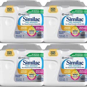 (4) Similac Pro-Advance Non-GMO Infant Formula with Iron-Powder 23.2oz