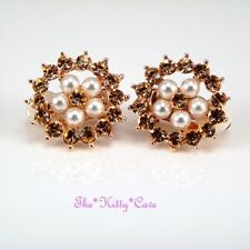Rose Gold Plated Clip - On Fashion Earrings