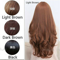 Sexy Women Long Fashion New Curly Wavy Full Wig Natural Synthetic Hair Wigs+Cap