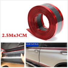 3CM x 2.5M Car Sticker Carbon Fiber Door Sill Bumper Protector Edge Guard Strips