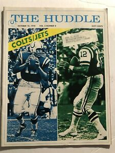 1970 The Huddle BALTIMORE COLTS vs NEW YORK JETS Super Bowl III UNITAS Namath
