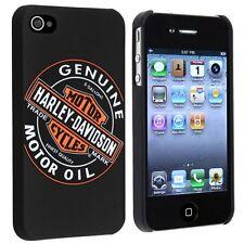 Licensed Harley Davidson Motor Oil Logo Hard Snap-On Case for Apple iPhone 4 4S
