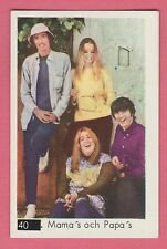 1960s Swedish Pop Star Card #40 The Mamas & Papas with Beatles Sectional Back