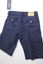 True Religion Men Cargo Blue   Shorts 44