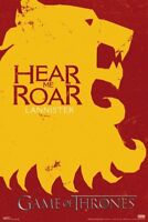 GAME OF THRONES ~ HOUSE LANNISTER CREST SIGIL LOGO 24x36 POSTER Hear Me Roar HBO