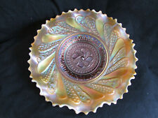 "Carnival Glass: Dugan Glass ""ROUND UP"" Peach Opal bowl"