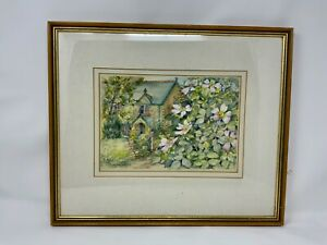 Original watercolour of a Cottage at Trelissick near Truro signed by artist