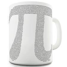 Twisted Envy Pi Numbers in the Shape of Pi Ceramic Novelty Mug