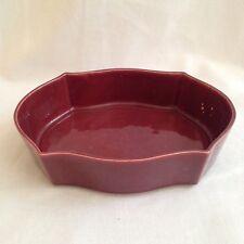 Vintage Johannes Brahm California Pottery Ceramic Trinket Dish 675 Wine Burgandy
