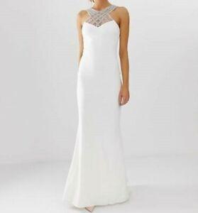 RRP £79, NEW Quiz - Amelia white embellished bridal dress