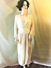 ANTIQUE/VINTAGE made in 1919 100% IVORY SILK EDWARDIAN WEDDING DRESS ON MET SITE