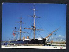 View of HMS Warrior, Portsmouth. Stamp/Postmark - 1988.