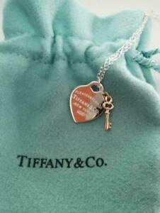 Tiffany & Co. Return Heart and Key Pendant Necklace