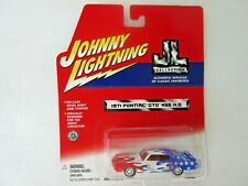 Johnny Lightning JL Collection 1971 Pontiac GTO 455 HQ 1:64 Red White and Blue