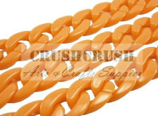 1 FEET Acrylic Orange CHUNKY Chain Link Connectors Craft Finding Chains DIY A88
