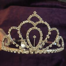(111219)New Crystal Crown Tiara Jewelry Headband Wedding Party Accessories