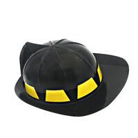 Plastic Firefighte Hat Fireman Helmet Fireman Costume Role Play Safety Hat J6U