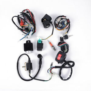 50cc-125cc ATV Motorcycle CDI Stator 6 Coil Pole Ignition Wiring Harness Parts