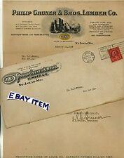1926 Envelope Letterhead St. Louis Missouri Philip Gruner & Bros. Lumber Company