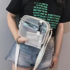 Women PVC Jelly Clear Mini Shoulder Crossbody Bag Messenger Handbag Satchel Tote
