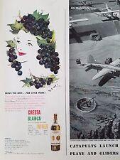 1942 Cresta Blanca Wine Sweet Red And White Original Print Ad