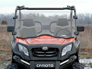CFMOTO UForce 800 Clear Scratch Resistant Full Windshield (2014+) MISSING RUBBER