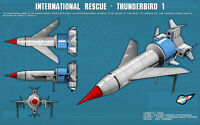 GERRY ANDERSON STINGRAY - THUNDERBIRDS RARE HD A3 PRINT - FREE NEXT DAY DELIVERY