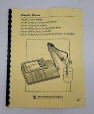 Denver Instrument Operation Manual Only for Model 270 260 250 225 220 215 Meter