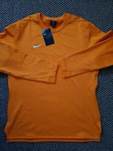 Nike Men Therma Modern Long Sleeve Top Shirt - 908358 - Orange - Size Medium NWT