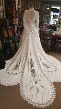 Gorgeous crisp white wedding  dress size 12,  must see large beautiful train WOW