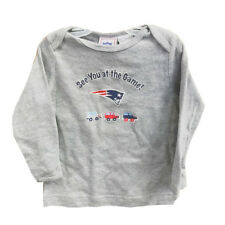 New England Patriots Infants 18 Months Gray Long Sleeve Shirt See You at Game
