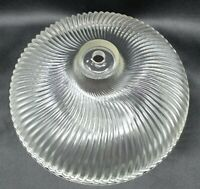 Vintage Ceiling Light Shade Clear Glass Ribbed Swirl Fixture Cover Globe