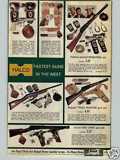 1968 PAPER AD Toy Holster Pistol Rifle Bonanza Marx Marauder Johnny Eagle Combat