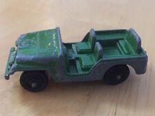 Vintage Jeep Toy Car Green Metal