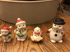 Vintage Homco Snowmen Figurines #5504 (Set of 4) Mint
