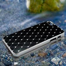Black Stylish Brushed Chrome Protective Hard Back Case Cover for iPhone 5 5G