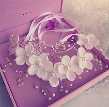 Romantic Flowers Pearl Garland Bridal Wedding/Sweet Sixteen/Flower Crown