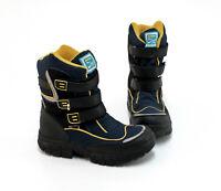 Boots DEI-tex Stiefeletten Klettverschluss Kunstleder Textil blau schwarz Gr. 38