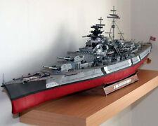 Germany Bismarck battle cruiser Ship paper Model Do It Yourself DIY 1:300