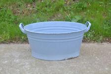 51.5 cm - old enameled enamel washing bowl shabby bath chic -  FREE POSTAGE