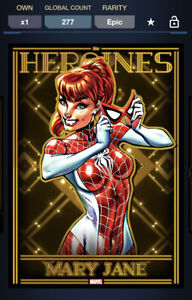 Topps Marvel Collect DIGITAL HEROINES GOLD MOTION EPIC MARY JANE 277CC
