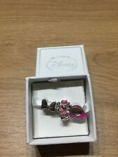 More details for genuine licensed disney minnie mouse charms x3 silver look gift box  bracelet